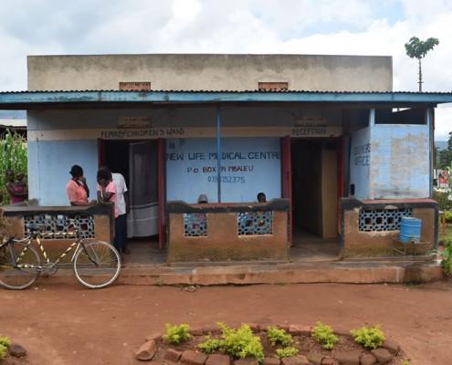 Small medical facility in Uganda