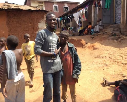Tresor with a street boy