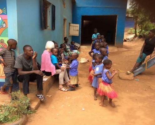 Children preparing to dance