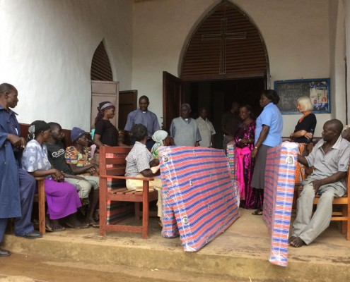 Mattresses delivered at the church