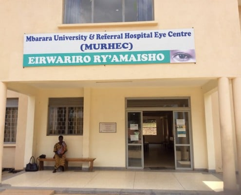 Outside Mbarara hospital