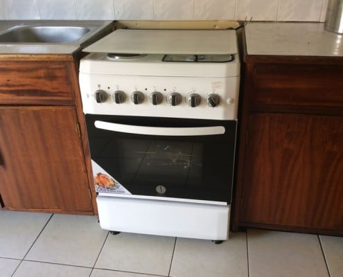 The new cooker installed