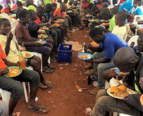 Feeding the street children
