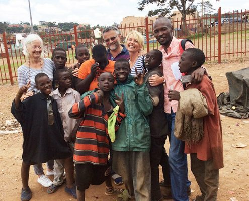At Kisenyi with the street children