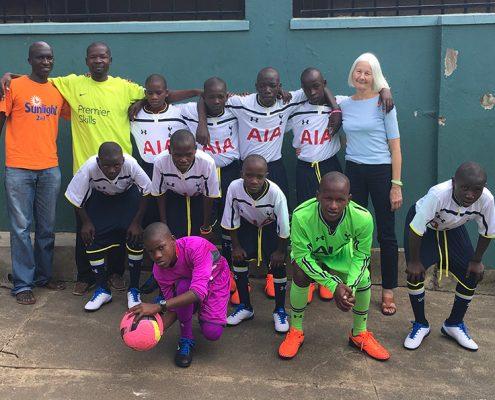 Street boys in new Spurs kit