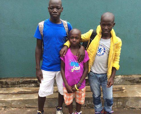 Street children visiting their relatives