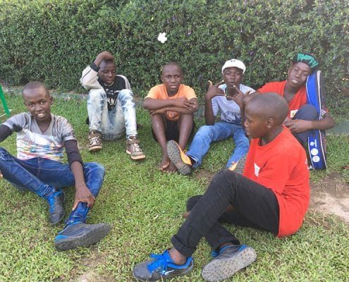 The street children relaxing