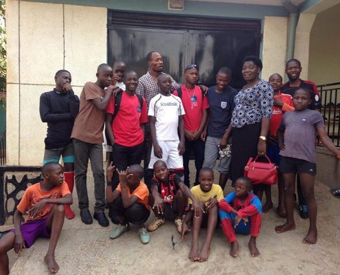 Saying farewell to some of the street children
