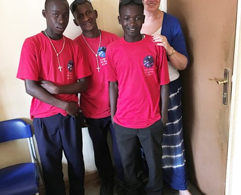Jackie visiting some of the street children