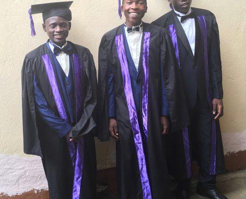 Three boys at their graduation