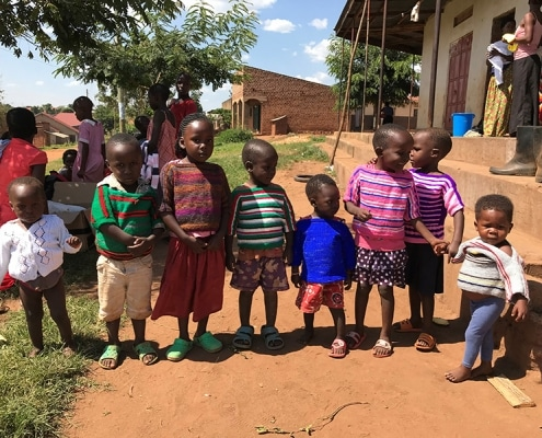Donating jumpers to children