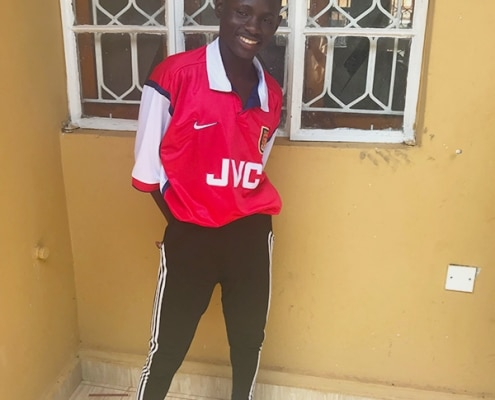 Street boy supporting Arsenal