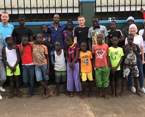 Visitors to Uganda street child project