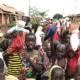 Ugandan children with donated teddies