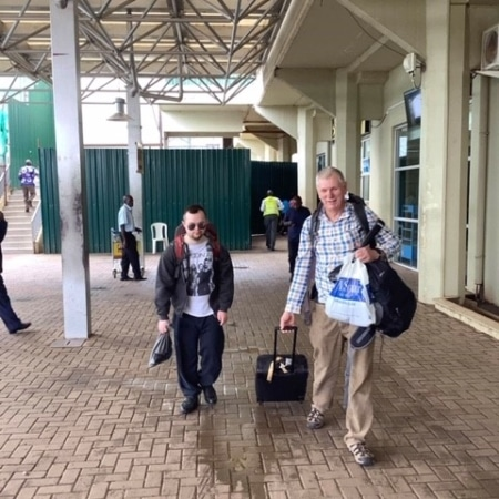 Martin and Mike arrive