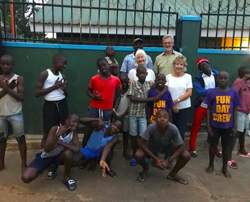 Sue and Michael visit Uganda