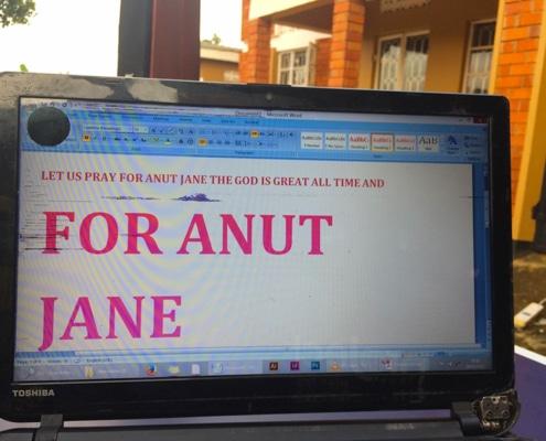 Notice for Jane from Uganda