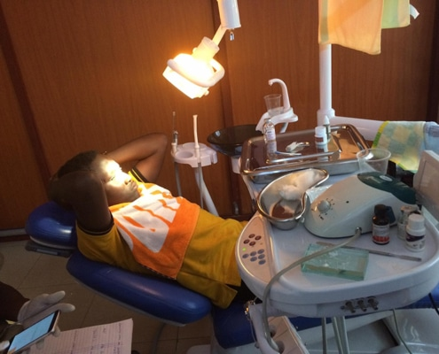 One of our boys at the dentist