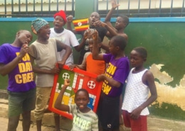 Our boys excited with the new ludo board