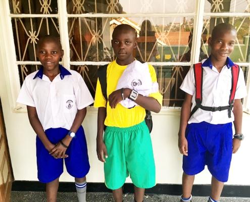 Three Ugandan street boys