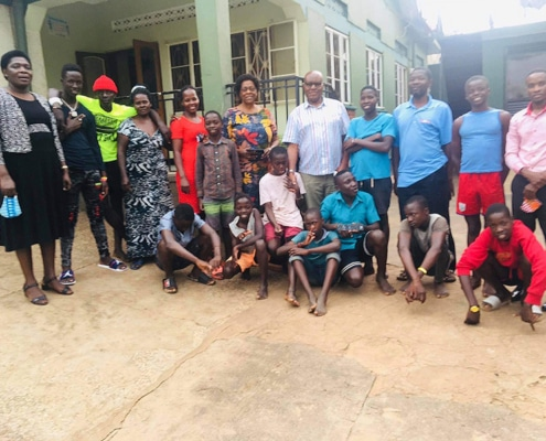 Visitors at Homes of Promise