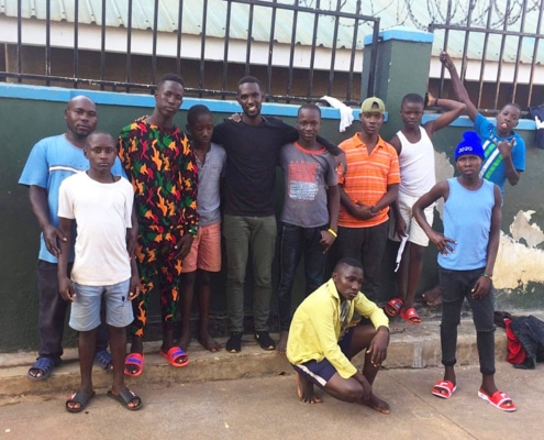 Tresor visits Homes of Promise