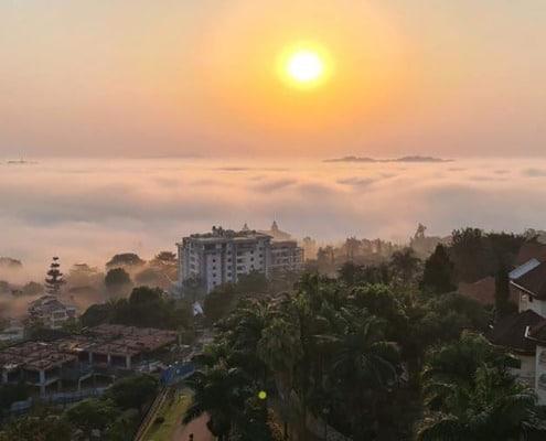 Kampala at dawn