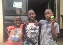 Three of our former street children