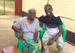 One of our staff with his grandma