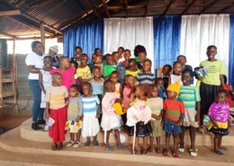 Donated fish and chi[p baby clothes distributed